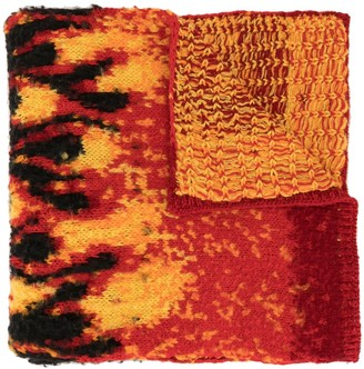 Palm Angels Flames Winter Scarf