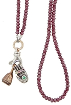 Catherine Michiels Eggplant Bohemian Crystal Necklace
