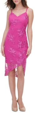 GUESS Embroidered Lace Sheath Dress
