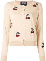 Markus Lupfer sequin cherry cardigan - women - Cotton/plastic - S