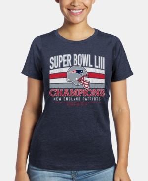 Majestic Women's New England Patriots Super Bowl Liii Championship Classic Game T-Shirt