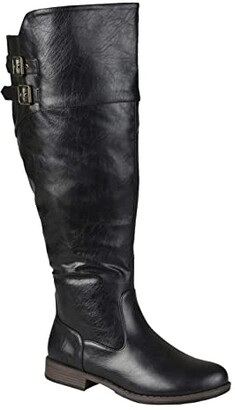 Journee Collection Tori Boot - Extra Wide Calf (Black) Women's Shoes