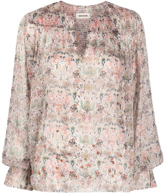 Zadig & Voltaire Kaleido floral tunic