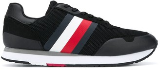 Tommy Hilfiger Signature-Stripe Mesh Sneakers