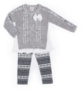 Little Lass Woven Sweater Set - Toddler