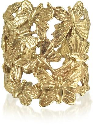 Butterflies Flat Bronze Ring