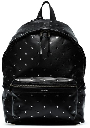 Saint Laurent Star-Embossed Backpack