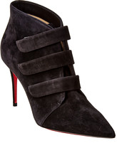 Christian Louboutin Triniboot 85 Suede Ankle Bootie