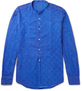 Massimo Alba Grandad-Collar Textured-Cotton Shirt