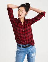 American Eagle Outfitters AE Ahh-Mazingly Soft Plaid Boyfriend Shirt