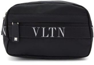 Valentino Vltn Logo-jacquard Belt Bag - Black