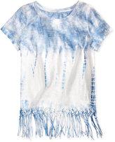 Jessica Simpson Nova Tie-Dye Fringe T-Shirt, Big Girls (7-16)