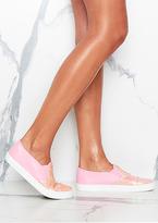 Missy Empire Kira Pink Sequin Slip On Pumps