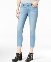 Jessica Simpson Juniors' Forever Rolled Light Blue Wash Skinny Jeans
