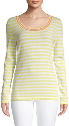 Escada Sport Stripe Long-Sleeve Top