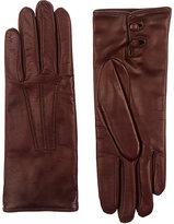 Barneys New York Women's Nappa Leather Gloves-Burgundy