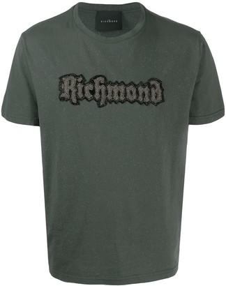 John Richmond beaded logo T-shirt