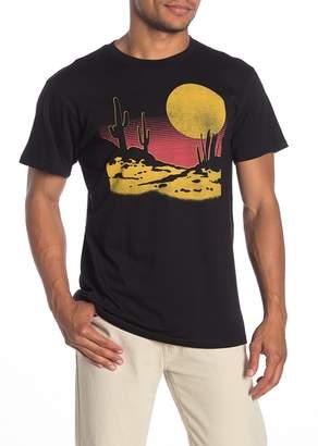 Body Rags Short Sleeve Desert Full Moon Graphic T-Shirt