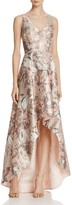 Aidan Mattox Sleeveless Jacquard High/Low Gown