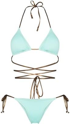 Reina Olga Miami tie detail bikini set