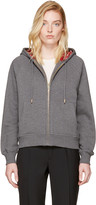 Burberry Grey Check Zip Hoodie