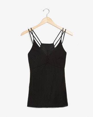 Express Strappy Pleated Lace Cami