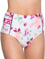 Betsey Johnson White Prisoner of Love High-Waist Bikini Bottoms
