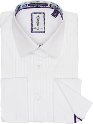 Robert Graham Men's Whitby Pleated-Bib Dress Shirt