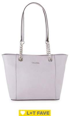 Calvin Klein Leather Chain Strap Tote