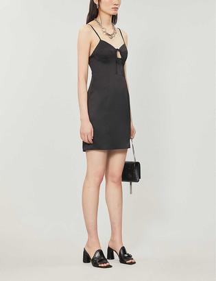 Topshop Key-hole satin mini dress