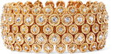 BIJOUX BAR Natasha Gold-Tone Crystal Stretch Circle Bracelet
