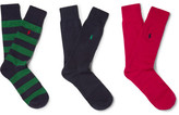 Polo Ralph Lauren Three-pack Stretch Cotton-blend Socks - Multi