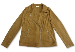 Style&Co. Style & Co Petite Faux-Suede Moto Jacket, Created for Macy's