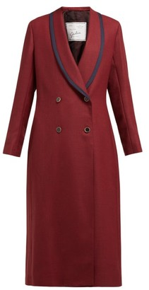 Giuliva Heritage Collection Josephine Double-breasted Wool Coat - Womens - Burgundy