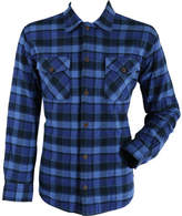 Pendleton Men's Lined Shirt Jacket - Indigo Blue Plaid Cotton Shirts