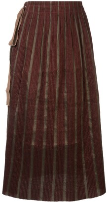 UMA WANG Knot-Detail Pleated Skirt