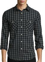 Arizona Long-Sleeve Plaid Cotton Poplin Shirt