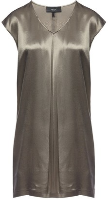 Nissa Satin Effect Viscose Dress