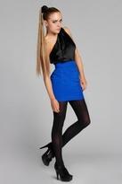 Naven Skinny Mini Skirt in Vegas Blue