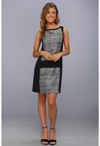 Jessica Simpson Sleeveless Contrast Dress (Black/White) - Apparel