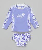 BaBy BanZ Lavendar Floral Rash Guard Set - Infant