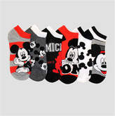 Asstd National Brand 6 Pair Mickey Mouse No Show Socks - Womens