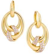 Milani Alberto Via Brera 18K Gold & Diamond Graduated Hoop Drop Earrings