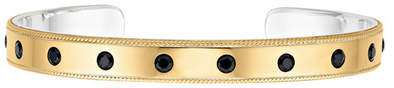 Anna Beck 18K Gold Plated Sterling Silver Black Onyx Cuff Bracelet