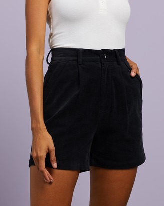 Dazie - Women's Black High-Waisted - Break Your Heart Corduroy Shorts - Size 6 at The Iconic
