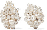 Fred Leighton - 1960s 18-karat White Gold, Pearl And Diamond Clip Earrings - one size