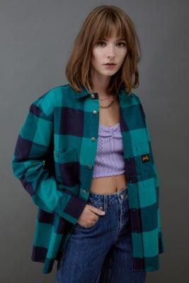 Stan Ray Flannel Shirt Green - Green XS at Urban Outfitters