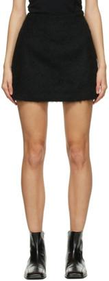 Our Legacy Black Wool Mohair Miniskirt