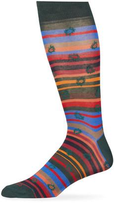 Etro Men's Multicolor Stripe Socks