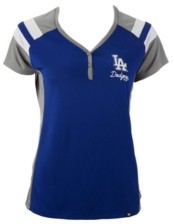 '47 Women's Los Angeles Dodgers Triple Play Henley Shirt